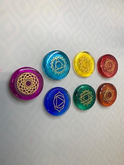 Epoxy 7 Chakra Semicircle Set