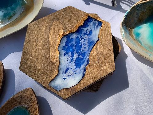 Lake Resin Coaster Set of 4