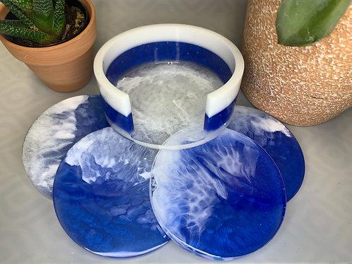 Ocean Resin Coaster Set