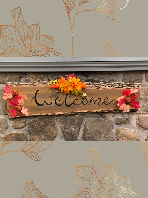 Fall Hanging Welcome Sign