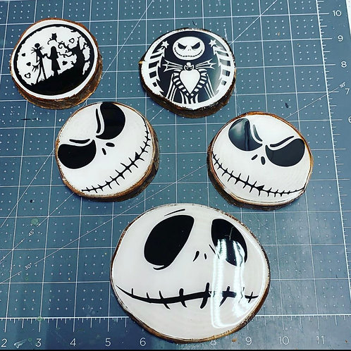 Set of 4 Jack Skellington Coaster Set