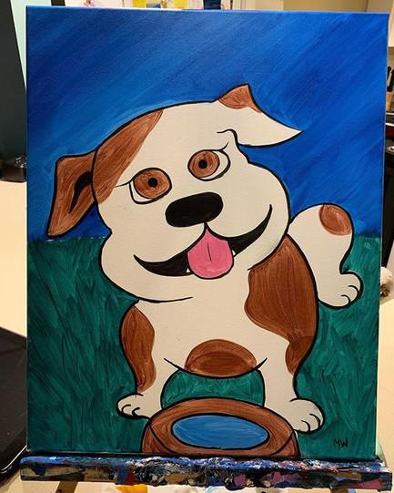 Kids classes #painting #art #bulldog #ki