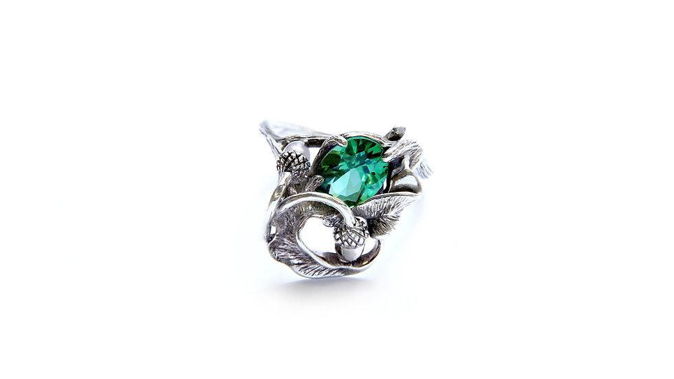 145€ - Anel de prata com turmalina verde
