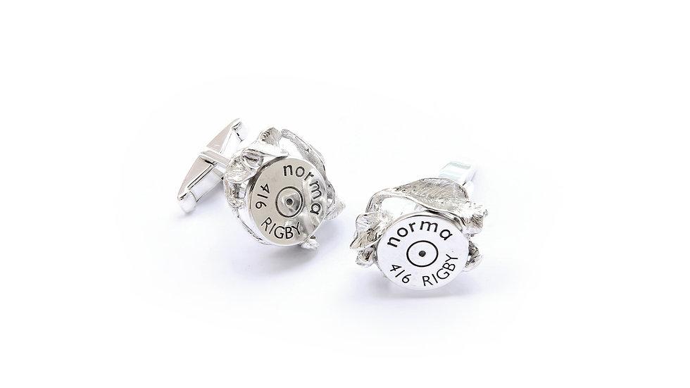 169€ - Abotoaduras de prata com base de cartucho personalizada