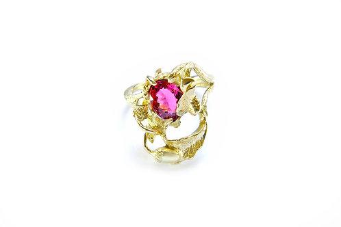 1039€ - Anel de ouro 18k com turmalina rosa