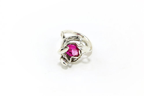 145€ - Anel de prata com turmalina rosa