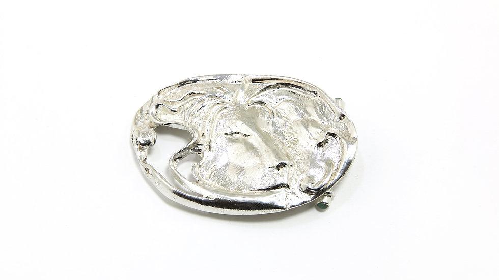 215€ - Fivela de prata em formato de leão
