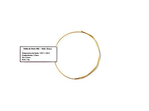 1g - Solda de ouro 18K - Fraca (Easy) Fo