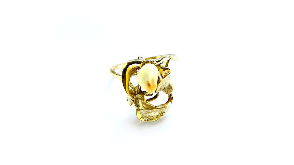 869€ - Anel de ouro 18k com grandel