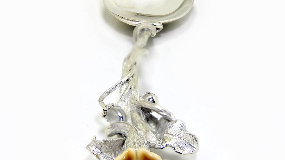 120€ - Colher de açúcar de prata com grandel
