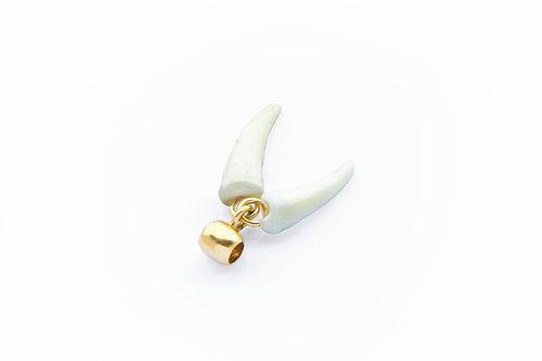 130€ - Pingente de ouro 18k com dentes raposa