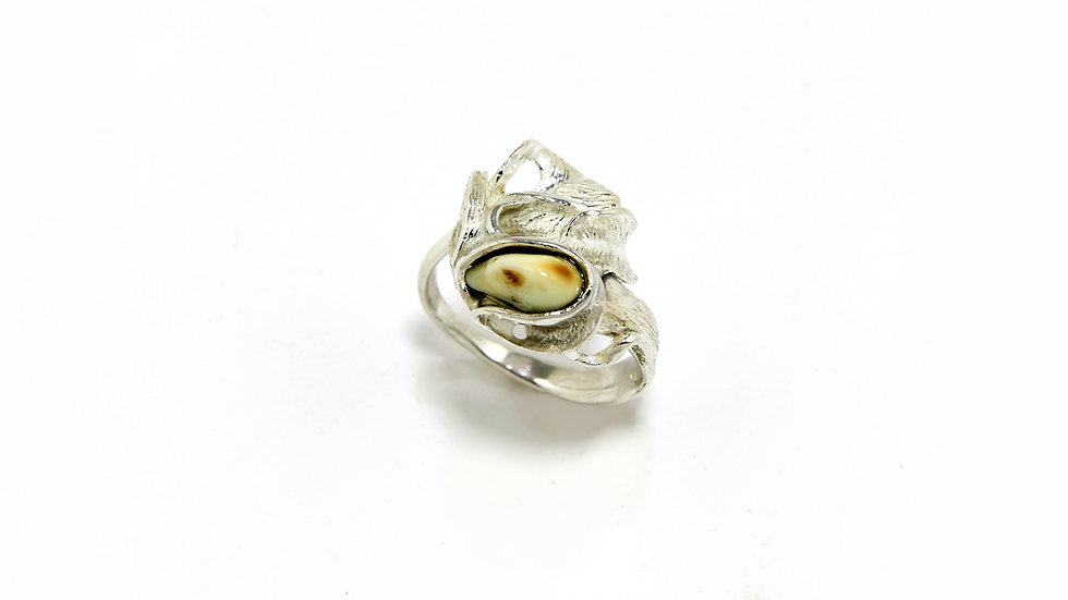 209€ - Anel de prata com grandel