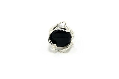 165€ - Anel de prata com ônix