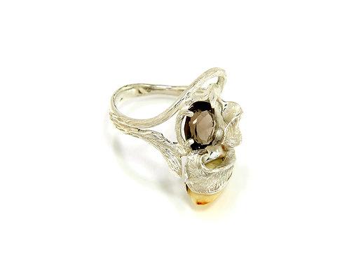 290€ - Anel de prata com quartzo fumêegrandl