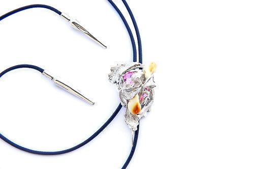 180€ - Gravata de prata com turmalinas e grandl