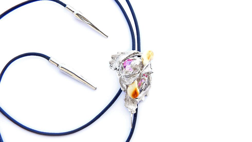 165€ - Gravata de prata com turmalinas e grandel
