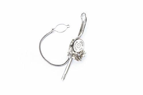 175€ - Prendedor de gravata de prata com base de cartucho personalizada