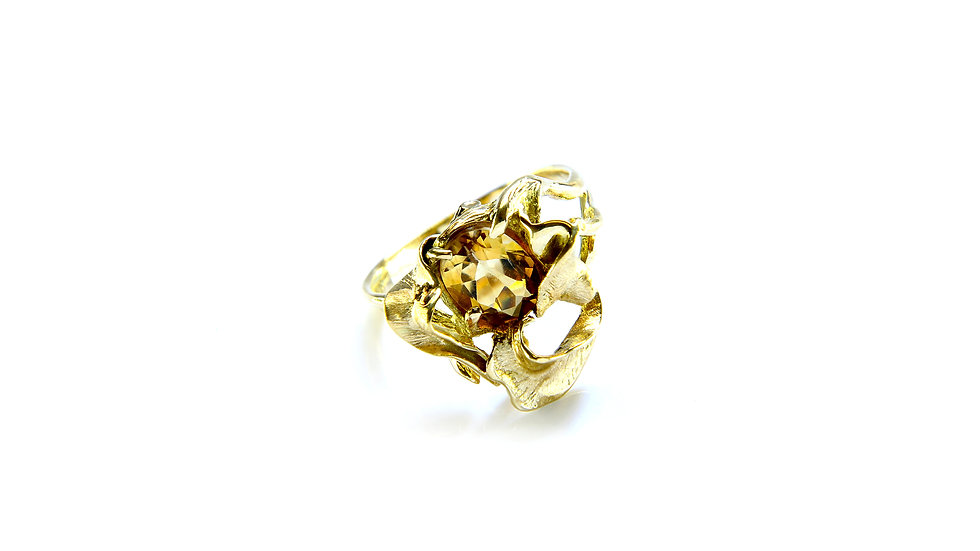 929€ - Anel de ouro 18k com citrino