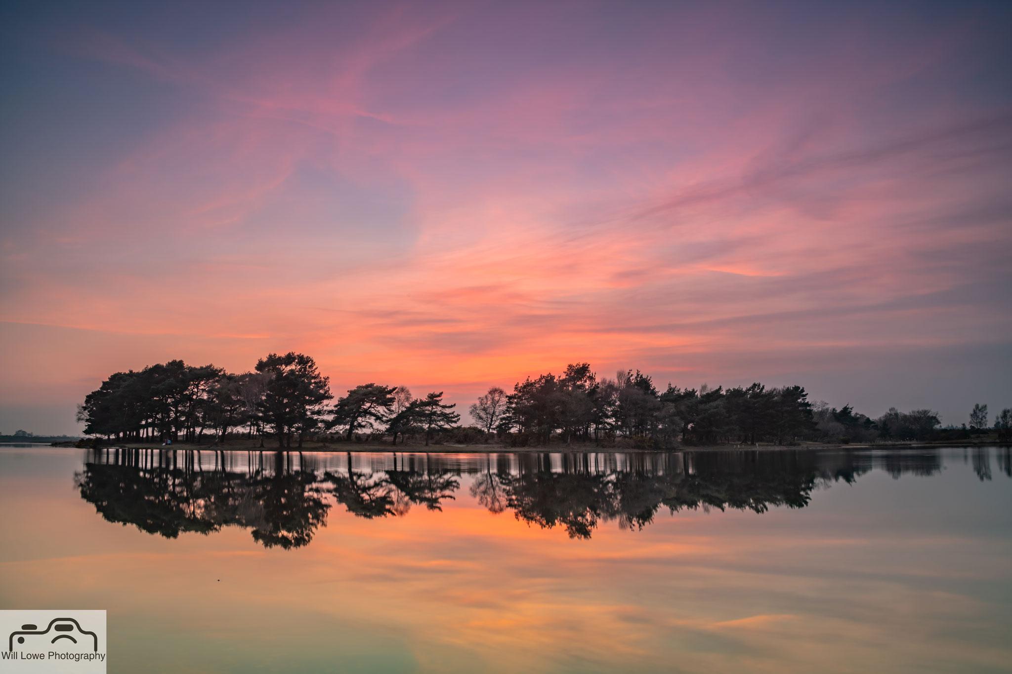 Sunset Hatchett Pond - New Forest