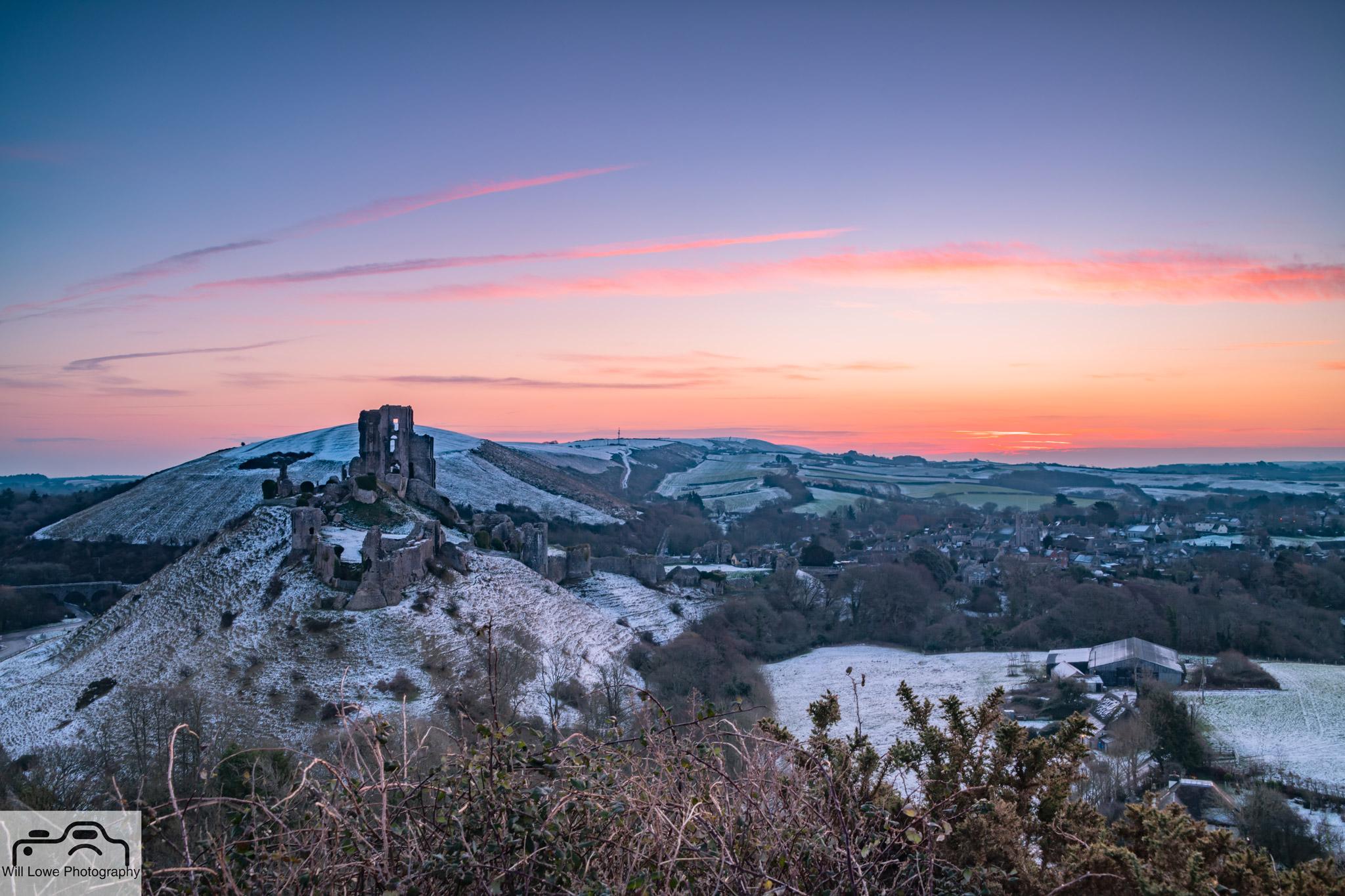 Winter Sunrise - Corfe Castle