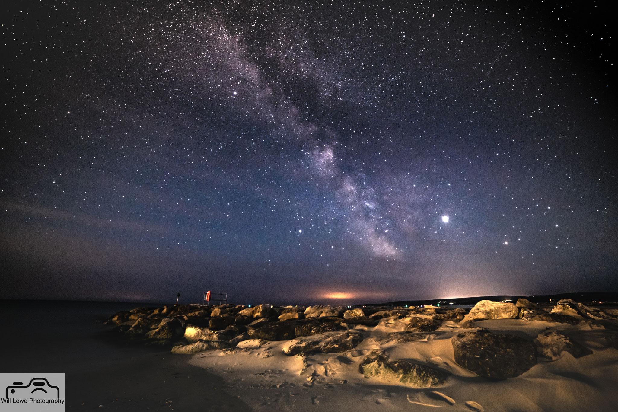 Milky Way over Sandbanks Beach