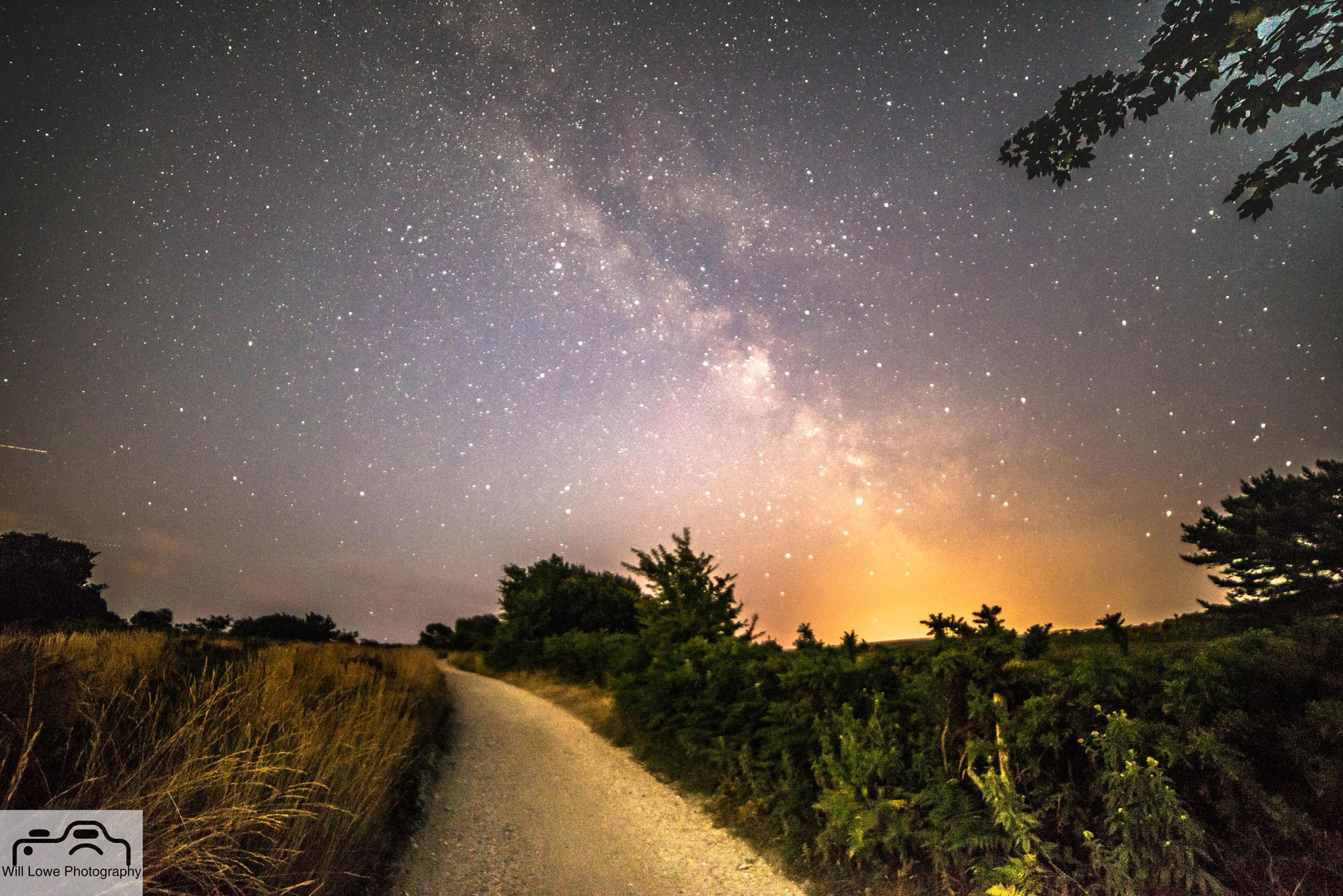 Milky Way over Studland Heath