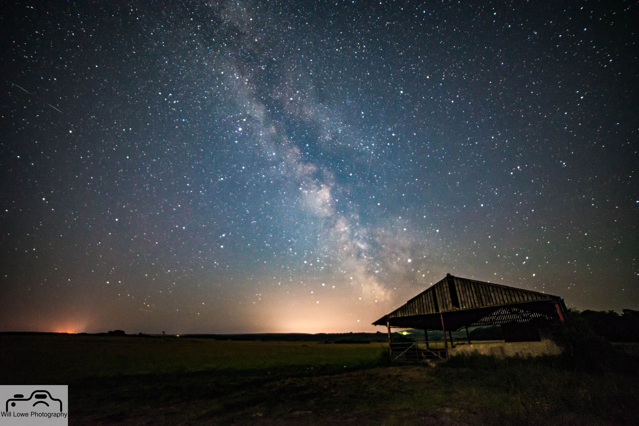 Milky Way over Studland Barn
