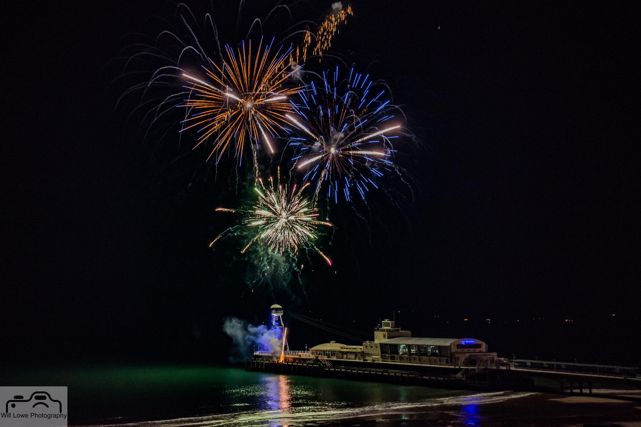 Fireworks Bournemouth Pier