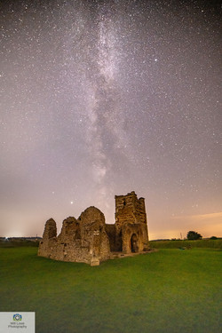 Milky Way over Knowlton Church