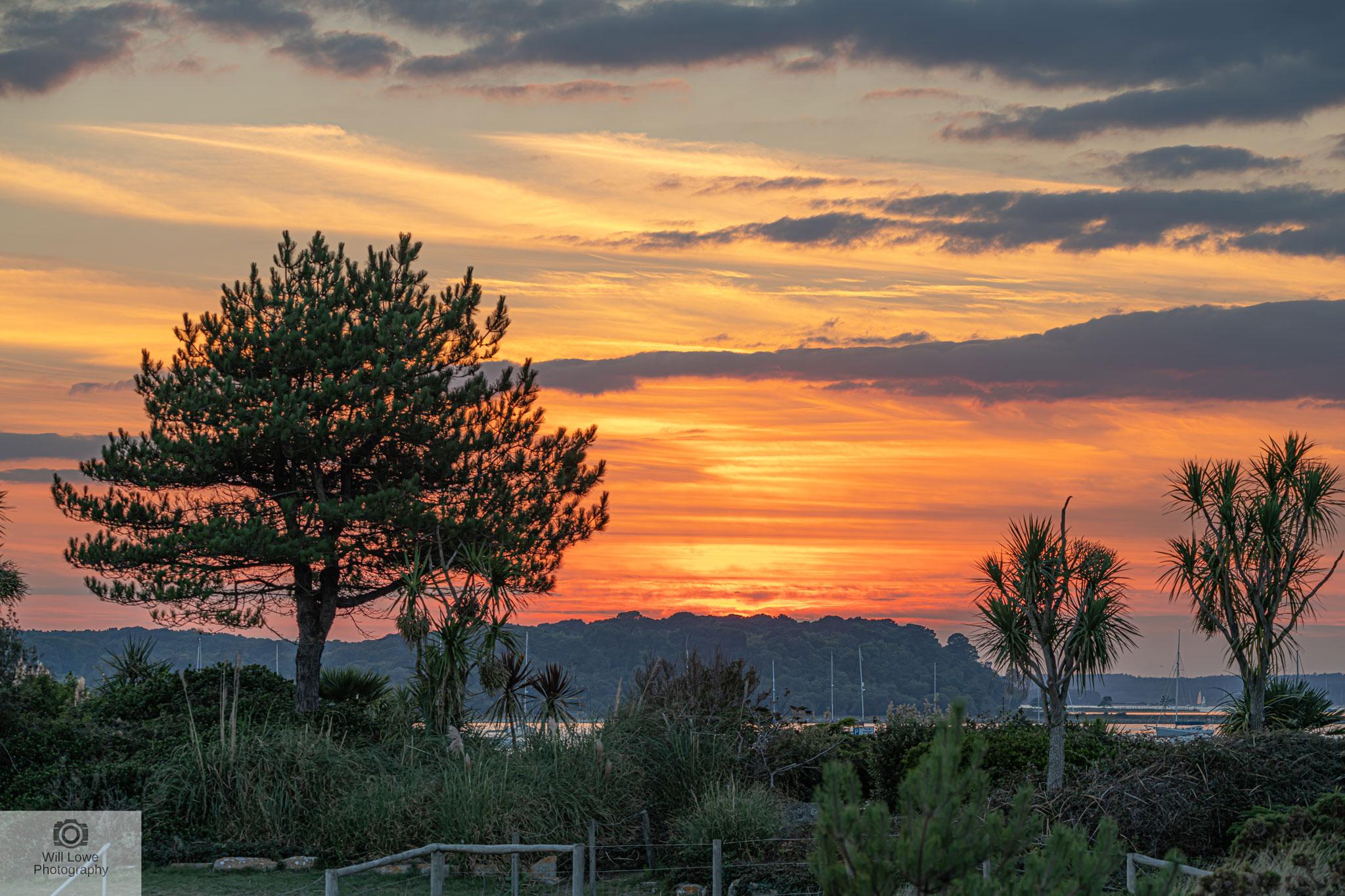 Sunset over Brownsea Island