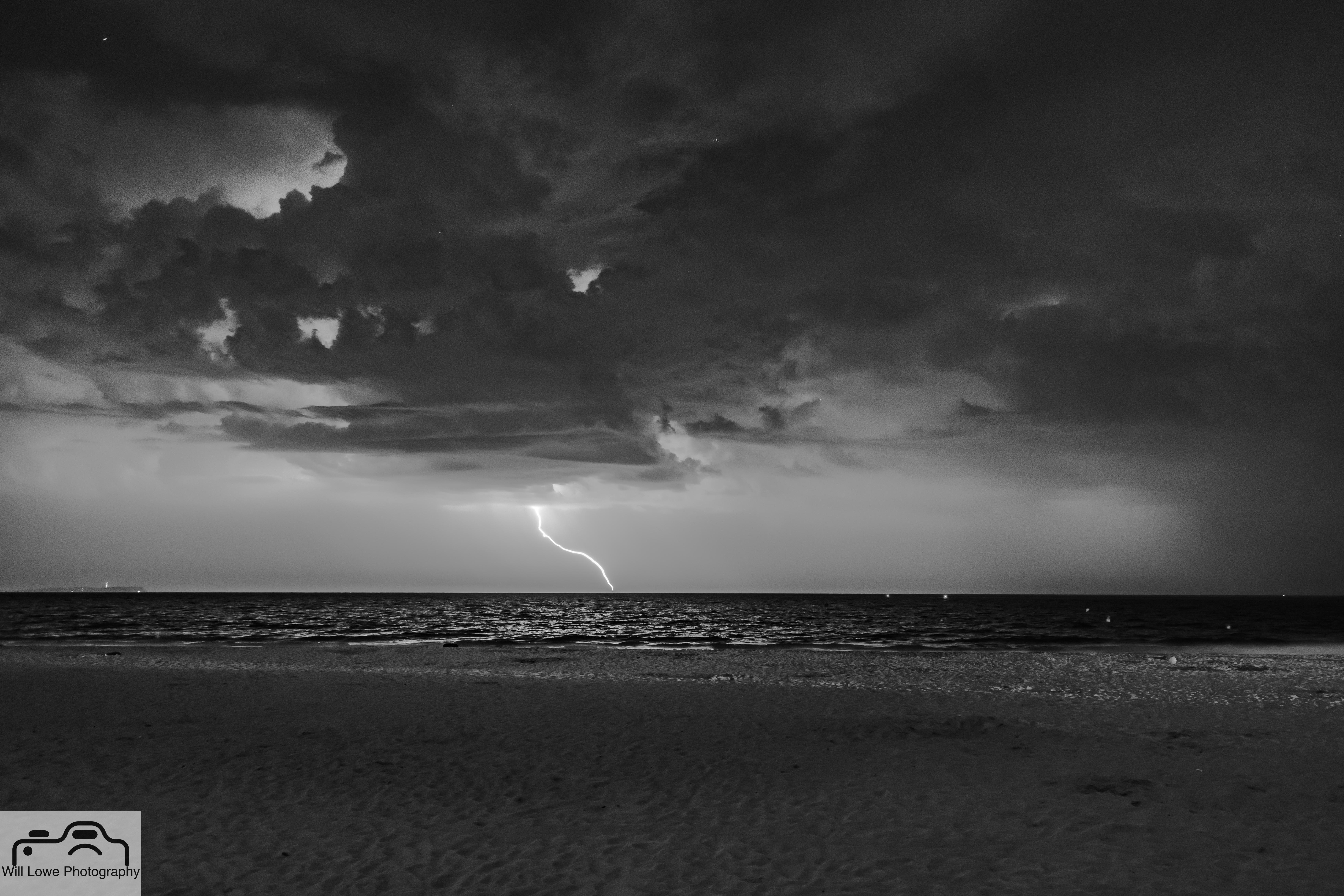 Lightning over Sandbanks Beach