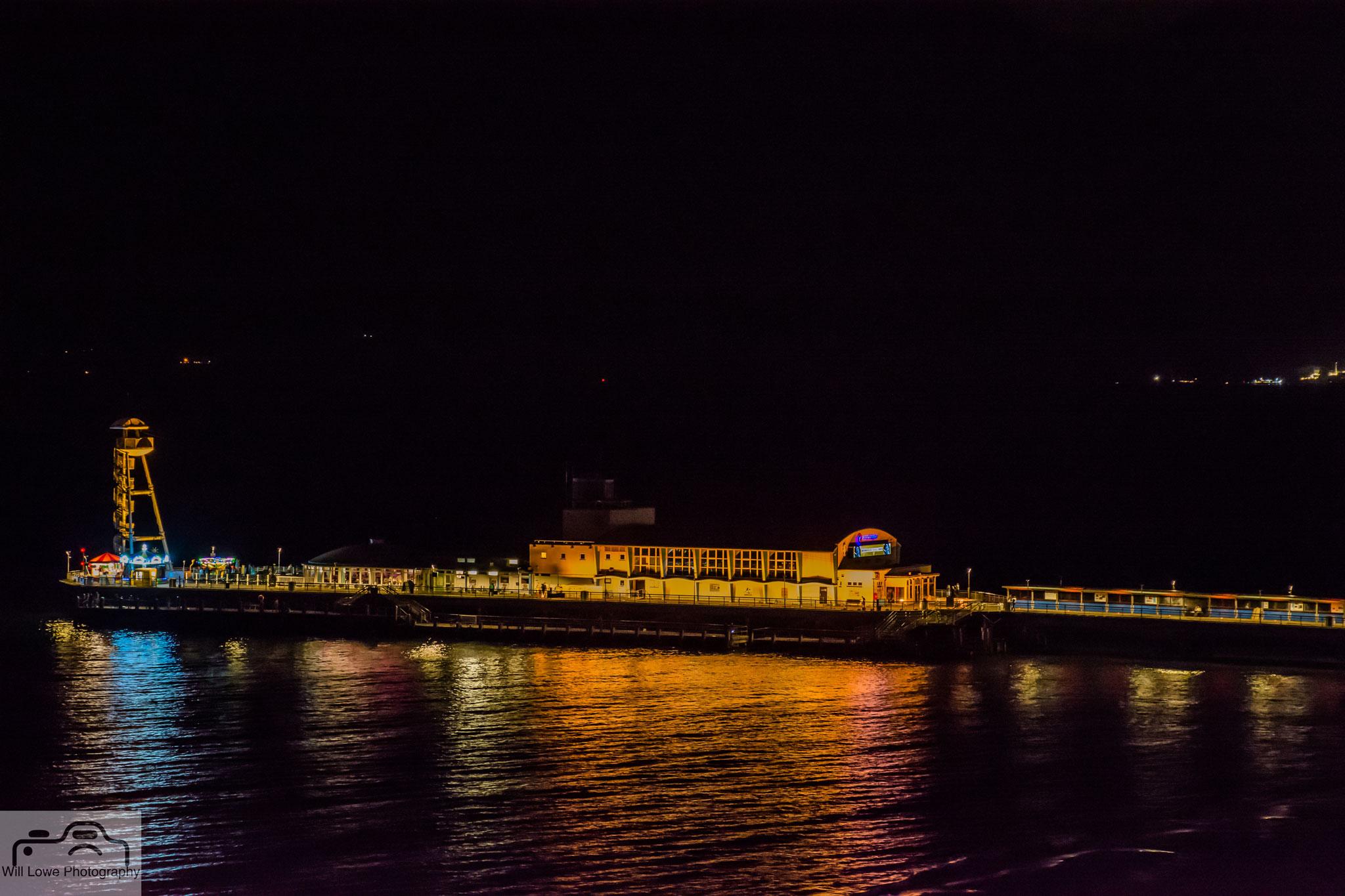 Bournemouth Pier Lit Gold