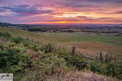 Sunset of the Isle of Purbeck