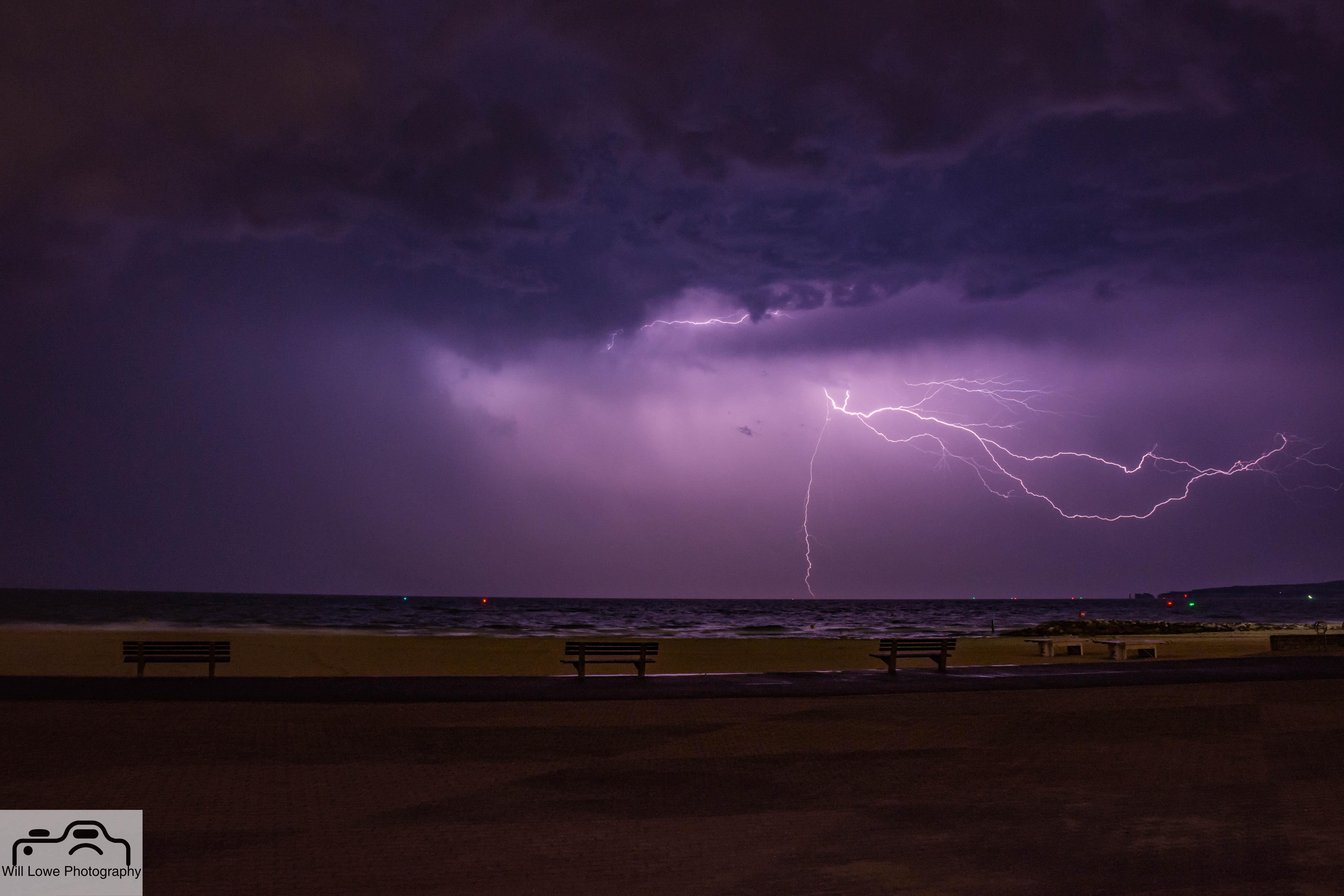 Lightning over Sandbanks
