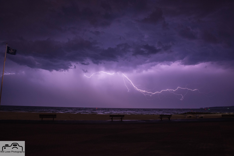 Lightning at Sandbanks