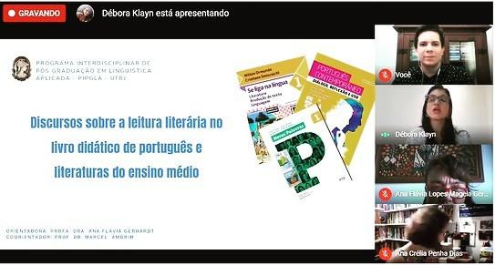 Defesa remota de doutorado de Débora Ventura Klayn Nascimento (01/03/2021) no Programa Interdisciplinar de Linguística Aplicada da UFRJ