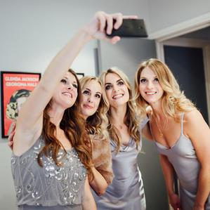 Bridesmaids makeup selfie