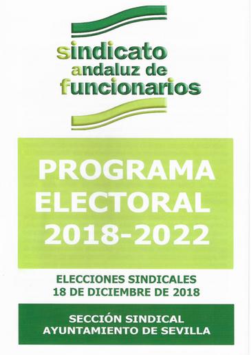 Programa Electoral SAF Ayuntamiento de S