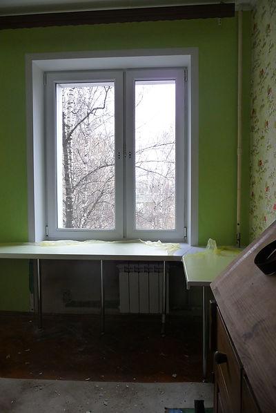Монтаж подоконника Москва  Mosotkos.ru
