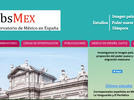 El Observatorio de México en España refuerza su página web