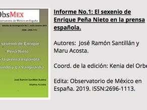 "Estudio ""El sexenio de Peña Nieto en la prensa española"""