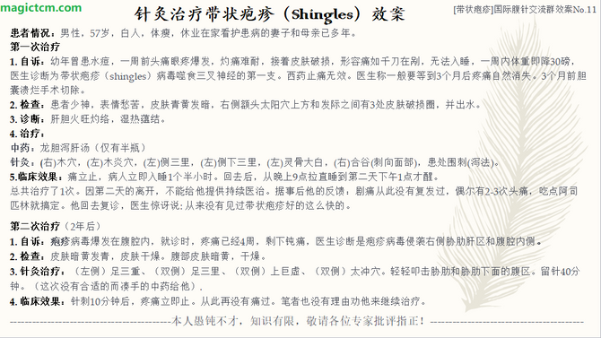 No. 11 带状疱疹 (Shingles)