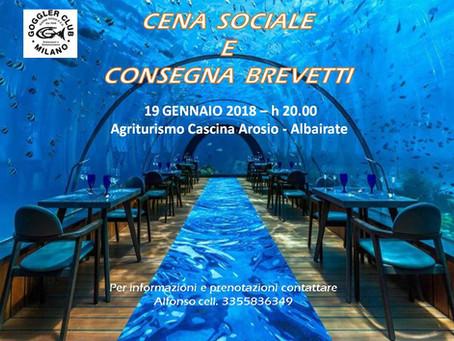 Cena Sociale 2018 e Consegna Brevetti 2017