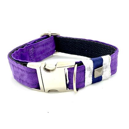 Fenrir Purple Satin Leopard Animal Print Dog Collar