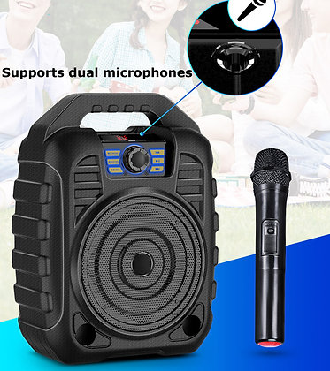 Outdoor Portable PA System Bluetooth Speaker & Wireless Microphone Karaoke