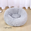 Thumbnail: Round Cat Bed House Soft Long Plush Best Pet Dog Bed for Dogs Basket Pet Product