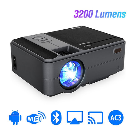 C180AB Portable Mini Wireless WiFi LED Smart Android Projector 720p