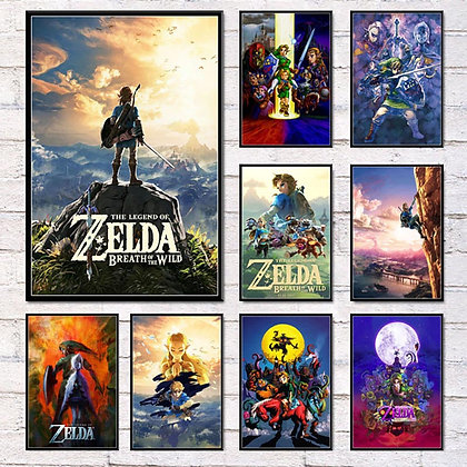 Artwork Painting Canvas Home Decoration Nordic Modern Style HD Legend of Zelda
