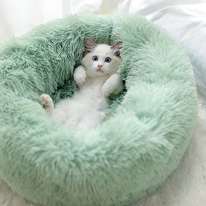 Round Cat Bed House Soft Long Plush Best Pet Dog Bed for Dogs Basket Pet Product