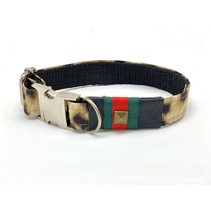 Anubis Leopard Dog Collar
